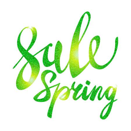 glitz: Spring Sale. Green inscription paint. glitz, glamor, light, shine, discounts, art