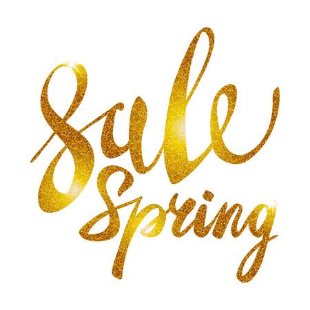 glitz: Spring Sale. Gold inscription paint. glitz, glamor, light, shine, discounts, art