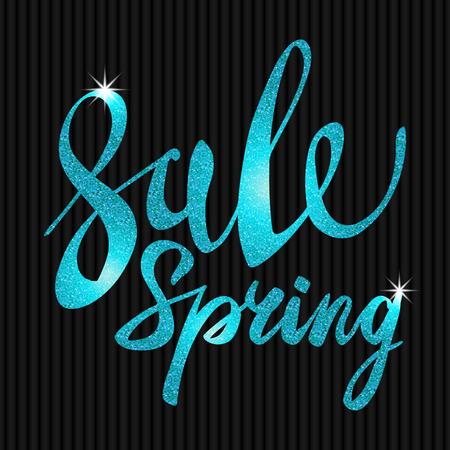 glitz: Spring Sale. blue inscription paint. glitz, glamor, light, shine, discounts, art