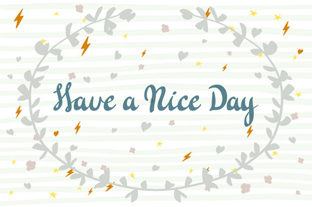 wishing card: Have a nice day wishing card art vector