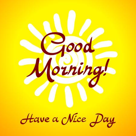enjoyable: The winking sun. Have a nice day vector card art