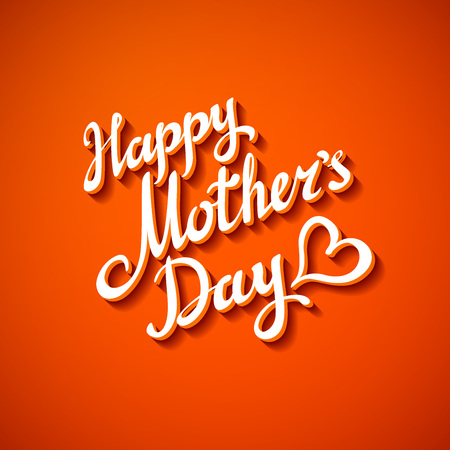 mothers day card: Vector happy mothers day card  brochure design art