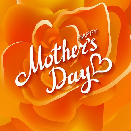 orange rose: Orange rose. Happy Mothers Day Beautiful Blooming orange Rose Flowers.