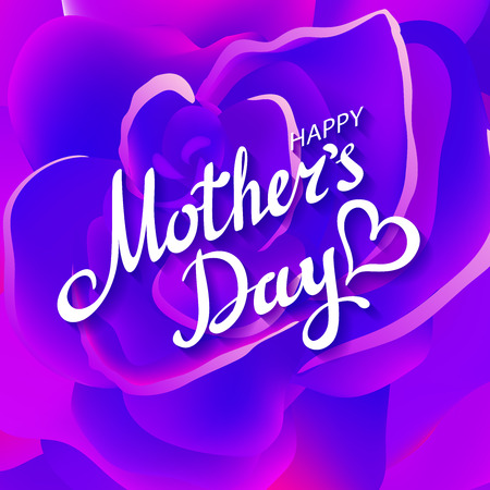 typographical: Happy Mothers Typographical Background With Roses art