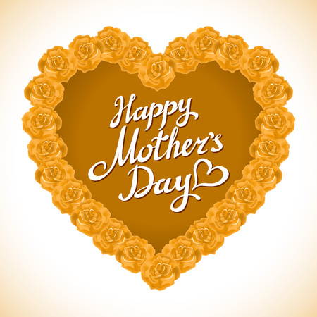 orange roses: bouquet of orange roses heart isolated on white background. yellow rose mother Day Heart Made of orange Roses Isolated on White Background. Floral heart shape vector background art