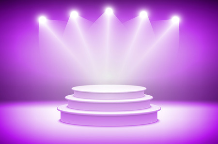 drape: 3d Pink stage light background theatrical background. scene and pink curtains. pink podium on a background of pink drape curtains. vector art