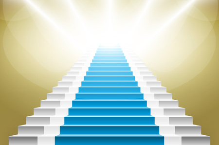 blue carpet: staircase with blue carpet. Stairs with a blue carpet. staircase with blue carpet. art vector carpet stairs