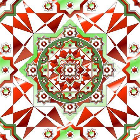 retro christmas: Simple retro geometric Christmas pattern.