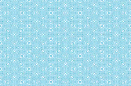 middle: Vector seamless pattern with outline floral ornament. Vintage design element in Middle Eastern style. Ornamental lace tracery. Ornate wallpaper. Traditional arabic decor on blue background. art