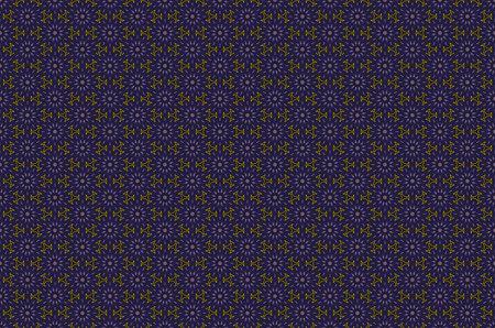 Blu e oro di lusso damascato motivo senza soluzione di continuità. Vintage stile vittoriano pattern.Vector illustrazione arte
