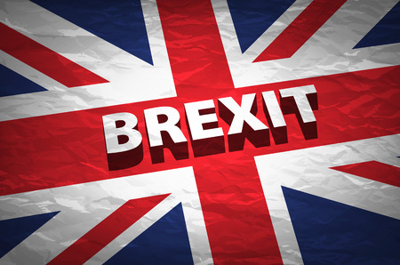 United Kingdom exit from europe relative image. Brexit named politic process. Referendum theme art Vettoriali