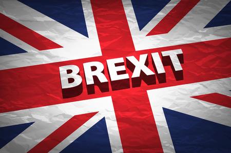 named: United Kingdom exit from europe relative image. Brexit named politic process. Referendum theme art Illustration