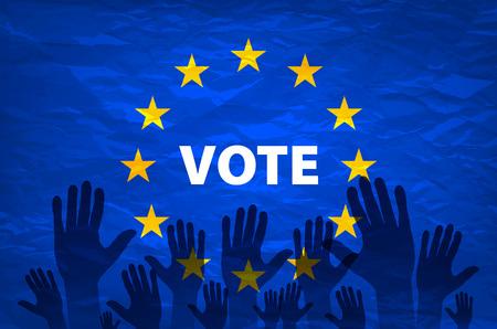 european euro: euro vote flag. vote for the European choice art Illustration