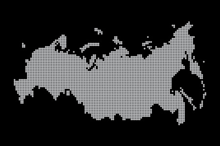 cartography: map of russia. illustration geography vector cartography, art