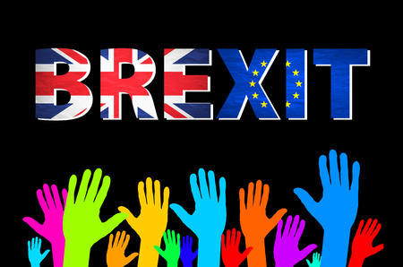 remain: Brexit Text Isolated art vector colorfull hand Illustration