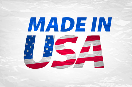 made manufacture manufactured: Vector Made in the USA logo vector art Illustration