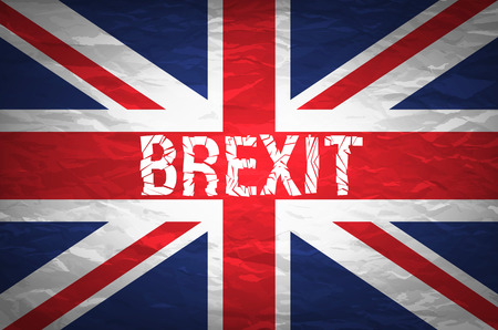 Brexit cracks Text Isolated. United Kingdom exit from europe relative image. Brexit named politic process. Referendum theme art