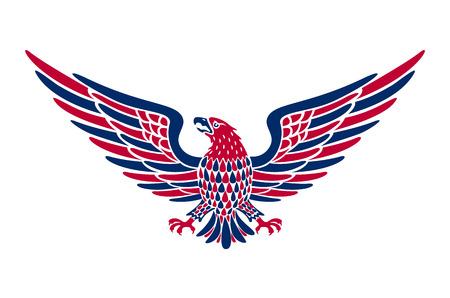 Amerikaans adelaars achtergrond vectorart. Amerikaanse adelaarsachtergrond. gemakkelijk om vectorillustratie van adelaar met Amerikaanse vlag voor Onafhankelijkheidsdag uit te geven Stock Illustratie