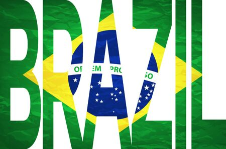 brazilian flag: Brazilian Flag art Illustration