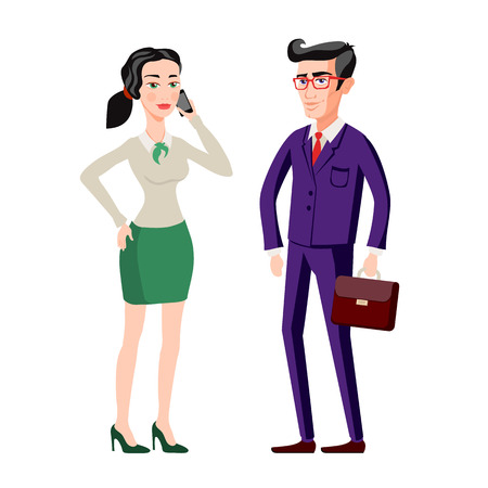 explaining: Business people, man and woman consults over book Vector isolated illustration. Shadow silhouettes Presentation, brainstorming, explaining, talking. Lawyers advise. Discussion, corporate strategy. art Illustration