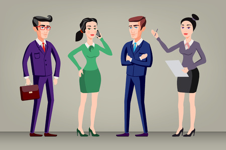 company director: Business group director chief boss. The company staff vector art