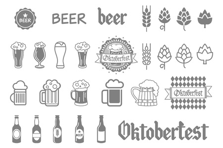 6 pack beer: Simple set of beer related icons for your design art