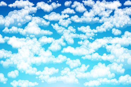 Vector clouds. Cartoon clouds. Illustration on blue background for design art Illustration
