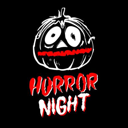 cute ghost: Halloween pumpkin illustration. horror night art