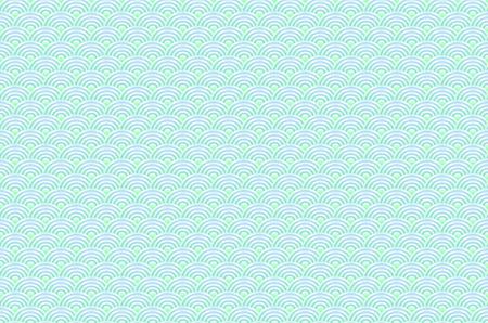 peces figuras de dragón de color azul transparente chino escalas sencilla sin problemas de fondo de la naturaleza con la onda del círculo japonés del arte del modelo del vector Ilustración de vector