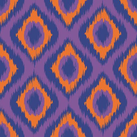 purple ikat stripes. seamless background orange. violet. blue vector art