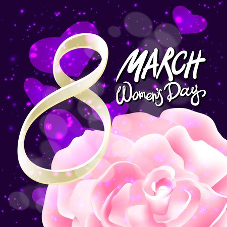 womans day: March 8 greeting card. International Womans Day. Illustration