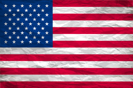 fade: The USA flag painted on white paper with backgrond vector art