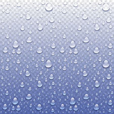Vector Photo Realistic Image Of Raindrops Or Vapor Trough Window Glass art