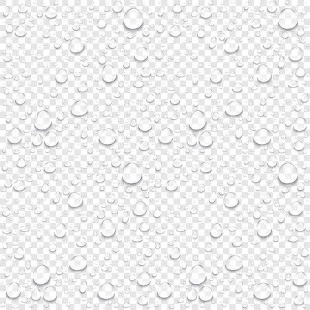 현실적인 벡터 물 투명 한 배경을 삭제합니다. 깨끗한 드롭 응축 일러스트 아트