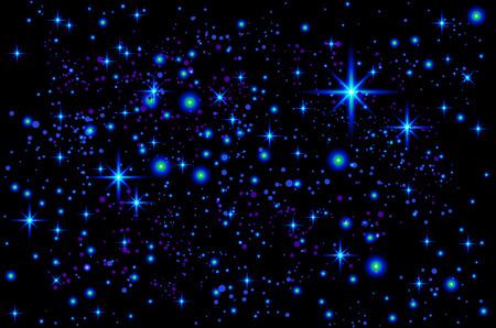 Ilustración brillante colorido del cosmos del vector. Fondo cósmico abstracto con estrellas. Art º Foto de archivo - 83389149