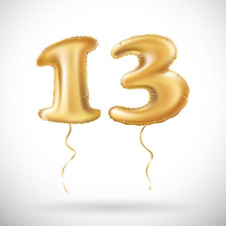 13 years anniversary celebration. Illustration