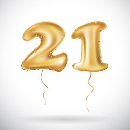 21 years anniversary balloon. Vectores