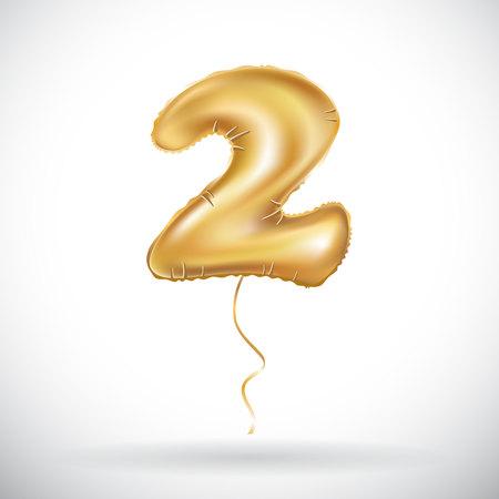 2 golden anniversary balloon.