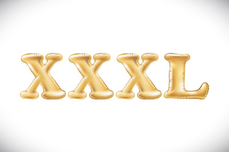 vector Metallic Gold XXXL Balloons, golden letter. new year, holiday, birthday, celebration. Golden shiny bright font in the air. art