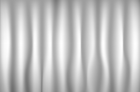 Gray velvet textile curtains background. Backdrop vector art illustration.