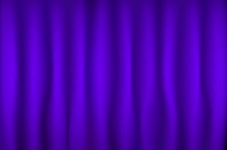 Purple or violet curtain background. Vector art illustration.