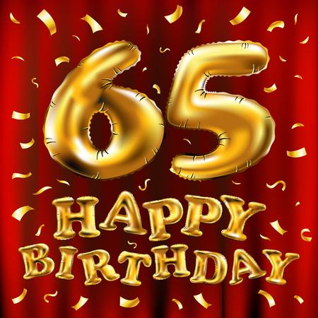 Celebration 65 years image illustration Illustration