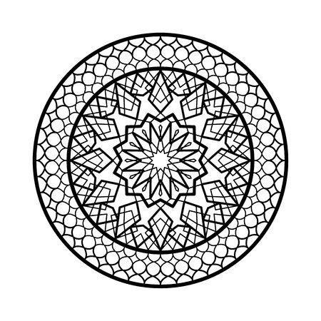 Arabic circle Frame. Traditional Islamic Design. Mosque decoration element. Elegance Background with Text input area in a center. art