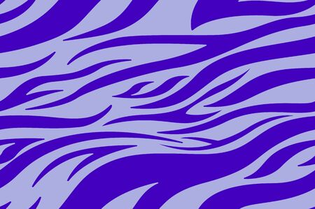 violet Zebra print. Stripes, animal skin, tiger stripes, abstract pattern, line background. Black and white vector monochrome seamles texture. eps 10 illustration art