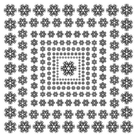vector snowflakes on a white background. Beautiful winter ornament. black line brush art 일러스트