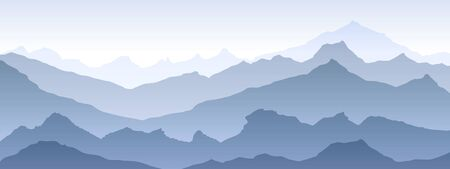 mountains eps 10 illustration background View of blue - vector art