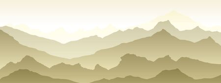 mountains eps 10 illustration background View of brown - vector art
