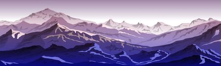 mountains eps 10 illustration background View of violet - vector art Ilustrace