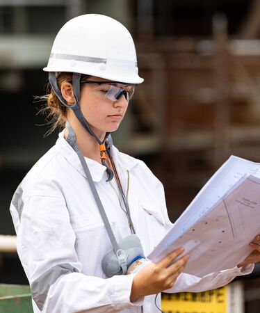 The engineer at the shipyard
