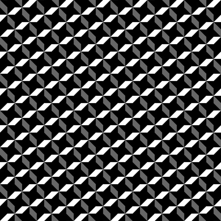 cameo: optical black and white geometric pattern 12x12 inch Illustration